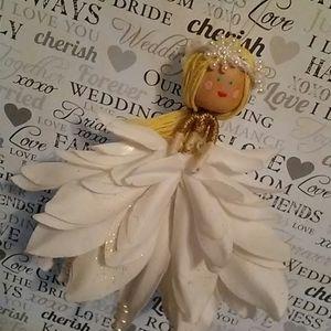 Handmade Winter Bride Ornament Doll